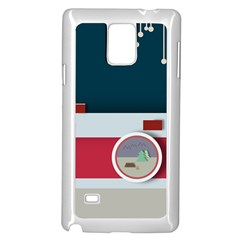 Camera Vector Illustration Samsung Galaxy Note 4 Case (white)