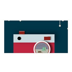 Camera Vector Illustration Satin Wrap