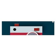 Camera Vector Illustration Satin Scarf (oblong)