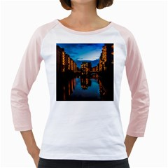 Hamburg City Blue Hour Night Girly Raglans