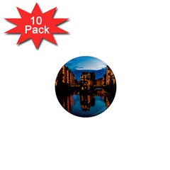 Hamburg City Blue Hour Night 1  Mini Magnet (10 pack)