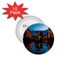 Hamburg City Blue Hour Night 1 75  Buttons (10 Pack)