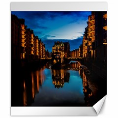 Hamburg City Blue Hour Night Canvas 20  X 24