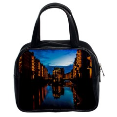 Hamburg City Blue Hour Night Classic Handbags (2 Sides)