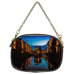 Hamburg City Blue Hour Night Chain Purses (two Sides)