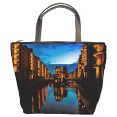 Hamburg City Blue Hour Night Bucket Bags