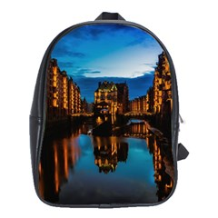 Hamburg City Blue Hour Night School Bags(large)