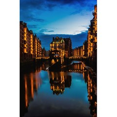 Hamburg City Blue Hour Night 5 5  X 8 5  Notebooks