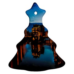 Hamburg City Blue Hour Night Ornament (christmas Tree)