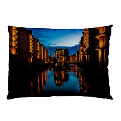 Hamburg City Blue Hour Night Pillow Case (two Sides)