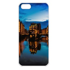 Hamburg City Blue Hour Night Apple Iphone 5 Seamless Case (white)