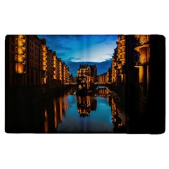 Hamburg City Blue Hour Night Apple Ipad 3/4 Flip Case