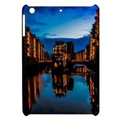 Hamburg City Blue Hour Night Apple Ipad Mini Hardshell Case
