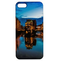 Hamburg City Blue Hour Night Apple Iphone 5 Hardshell Case With Stand