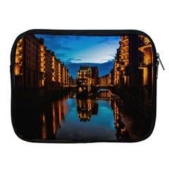 Hamburg City Blue Hour Night Apple Ipad 2/3/4 Zipper Cases