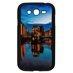 Hamburg City Blue Hour Night Samsung Galaxy Grand Duos I9082 Case (black)