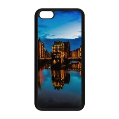 Hamburg City Blue Hour Night Apple Iphone 5c Seamless Case (black)