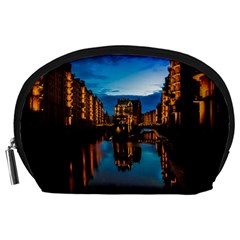 Hamburg City Blue Hour Night Accessory Pouches (large)