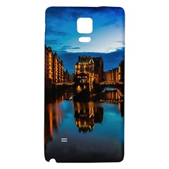 Hamburg City Blue Hour Night Galaxy Note 4 Back Case
