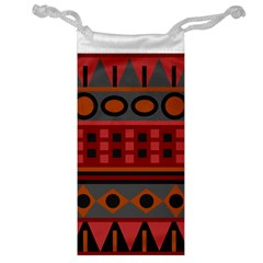 Red Aztec Jewelry Bag