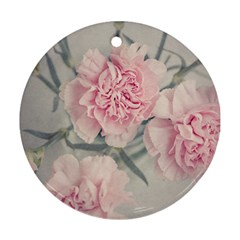 Cloves Flowers Pink Carnation Pink Ornament (Round)