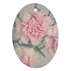 Cloves Flowers Pink Carnation Pink Ornament (oval)