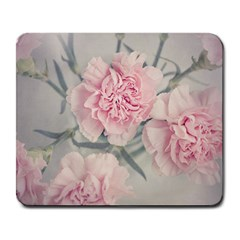 Cloves Flowers Pink Carnation Pink Large Mousepads