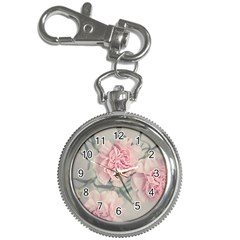 Cloves Flowers Pink Carnation Pink Key Chain Watches