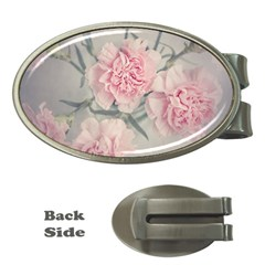 Cloves Flowers Pink Carnation Pink Money Clips (oval)