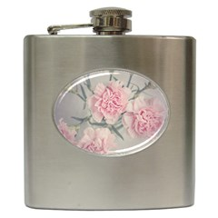 Cloves Flowers Pink Carnation Pink Hip Flask (6 Oz)