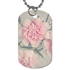 Cloves Flowers Pink Carnation Pink Dog Tag (two Sides)