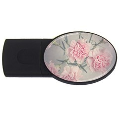 Cloves Flowers Pink Carnation Pink USB Flash Drive Oval (1 GB)