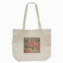 Cloves Flowers Pink Carnation Pink Tote Bag (cream)