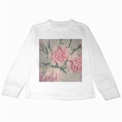 Cloves Flowers Pink Carnation Pink Kids Long Sleeve T-Shirts