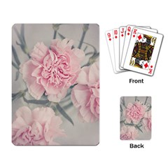 Cloves Flowers Pink Carnation Pink Playing Card