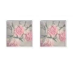 Cloves Flowers Pink Carnation Pink Cufflinks (square)