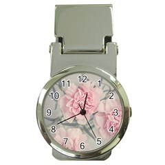 Cloves Flowers Pink Carnation Pink Money Clip Watches