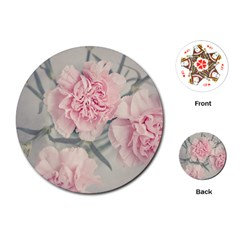 Cloves Flowers Pink Carnation Pink Playing Cards (round)