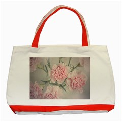 Cloves Flowers Pink Carnation Pink Classic Tote Bag (red)