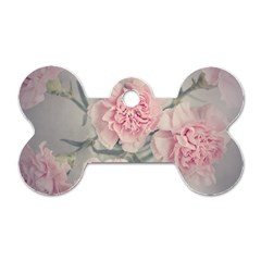 Cloves Flowers Pink Carnation Pink Dog Tag Bone (two Sides)