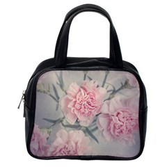 Cloves Flowers Pink Carnation Pink Classic Handbags (one Side)