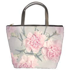 Cloves Flowers Pink Carnation Pink Bucket Bags