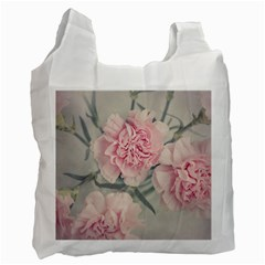 Cloves Flowers Pink Carnation Pink Recycle Bag (one Side)