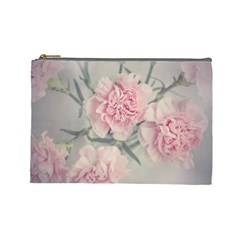 Cloves Flowers Pink Carnation Pink Cosmetic Bag (large)