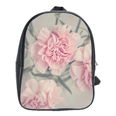Cloves Flowers Pink Carnation Pink School Bags(large)