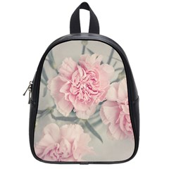 Cloves Flowers Pink Carnation Pink School Bags (small)