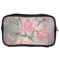 Cloves Flowers Pink Carnation Pink Toiletries Bags 2 Side