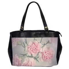 Cloves Flowers Pink Carnation Pink Office Handbags (2 Sides)
