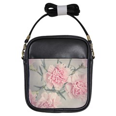 Cloves Flowers Pink Carnation Pink Girls Sling Bags