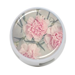 Cloves Flowers Pink Carnation Pink 4 Port Usb Hub (one Side)